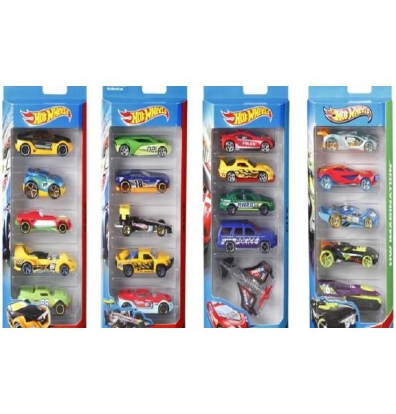 Comprar Pack de 5 coches Hot Wheels