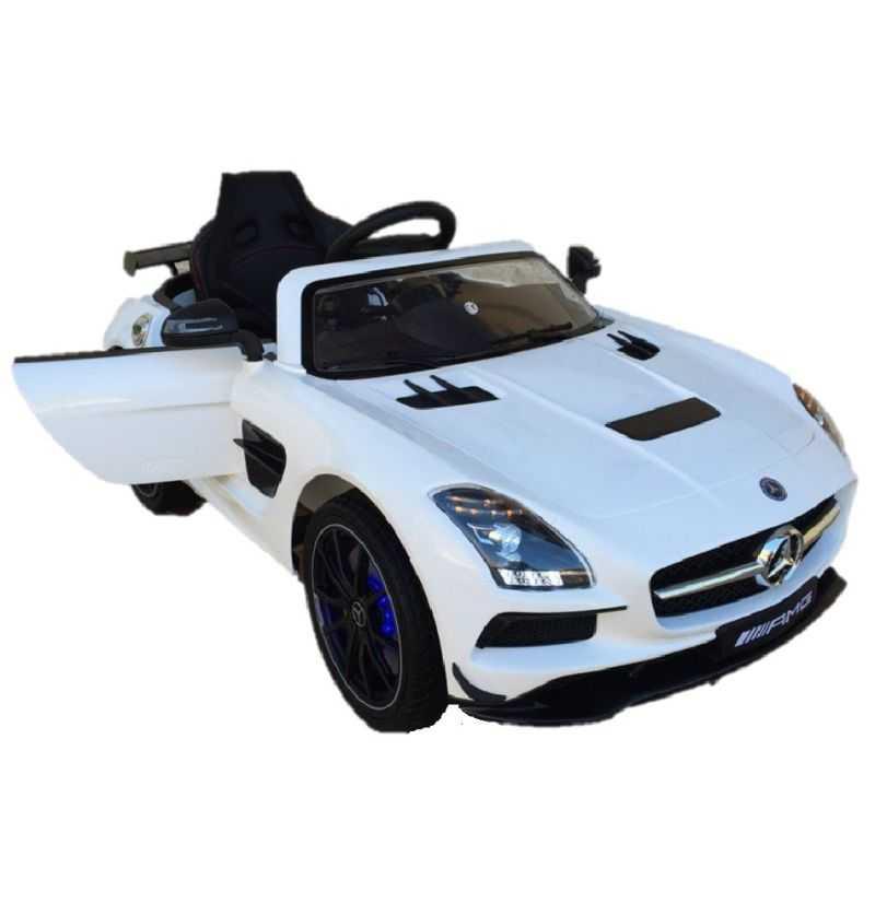Comprar Coche Eléctrico Infantil Mercedes SLS 12V con MP4 Blanco