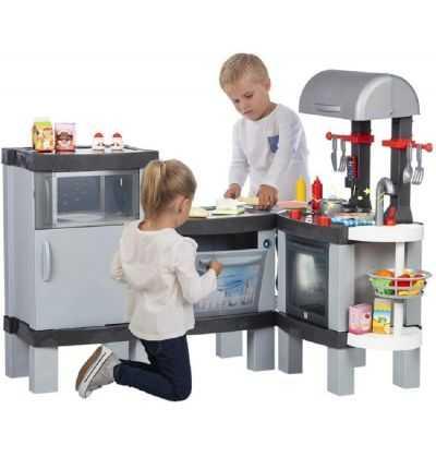 Comprar Cocina Grande gris Infantil Real Cooking XL con luces led y sonidos