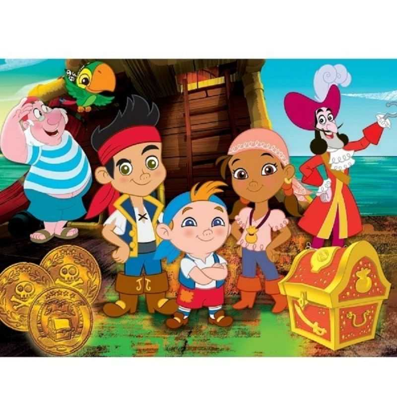 Comprar Puzzle 104 piezas Jake Pirata amigos Disney