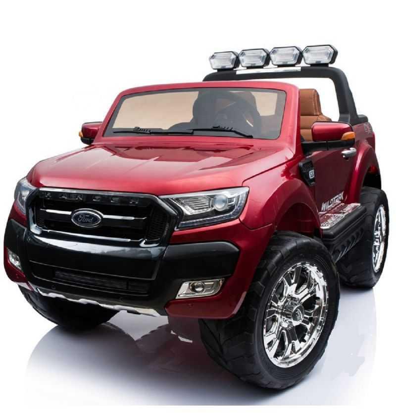 Comprar Coche eléctrico Infantil Ford Ranger con mp4 12v 2.4g rojo metalizado