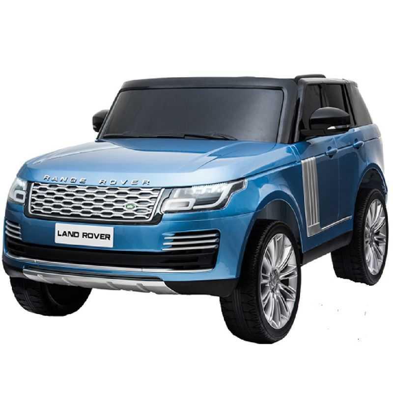 Coche Coche Eléctrico Infantil Land Rover Vogue 12v 2.4g mp4 azul metalizado