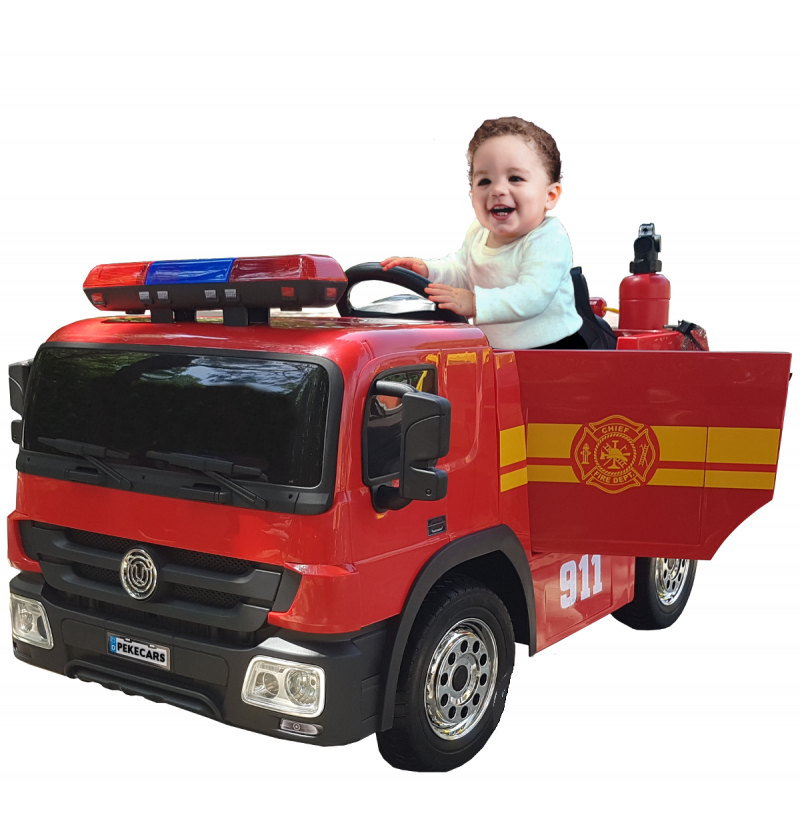 Comprar Camión Eléctrico Infantil Bomberos Rojo 12v 2.4g