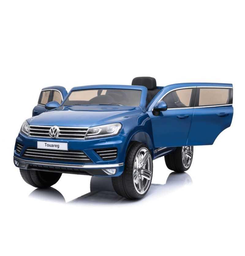 Comprar Coche Eléctrico Infantil Volkswagen Touareg 12v con mp4 azul metalizado