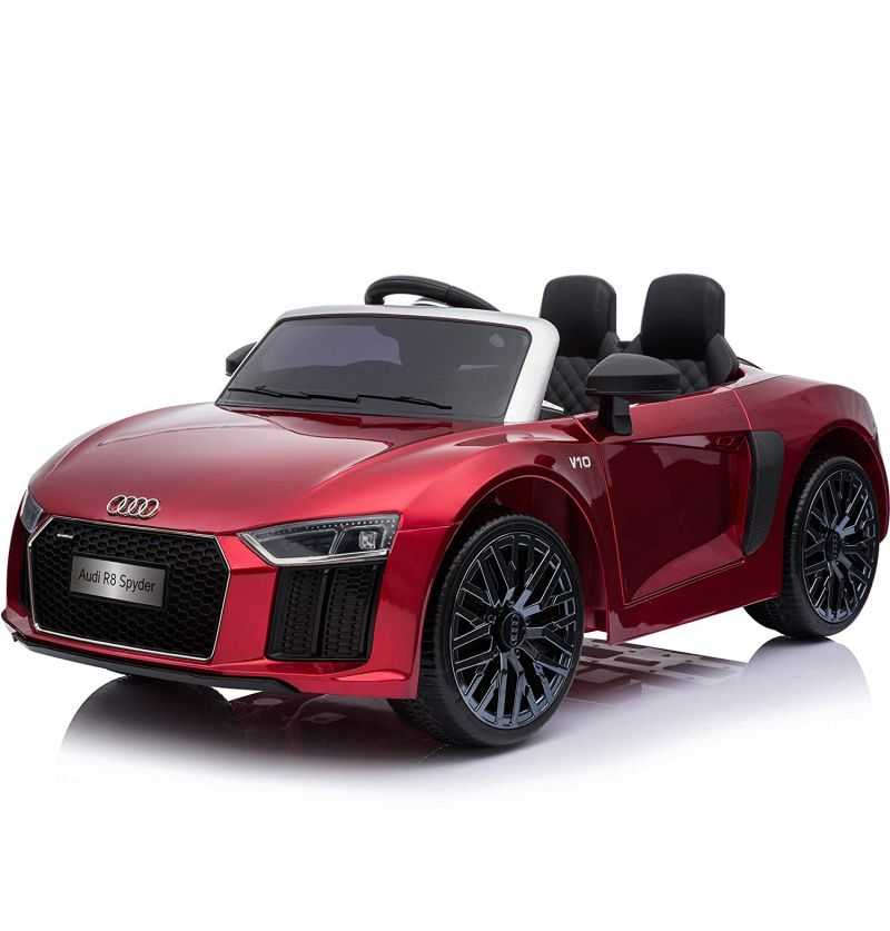 Comprar Coche Eléctrico Infantil Audi Little R8 Spyder 12v 2.4g rojo metalizado