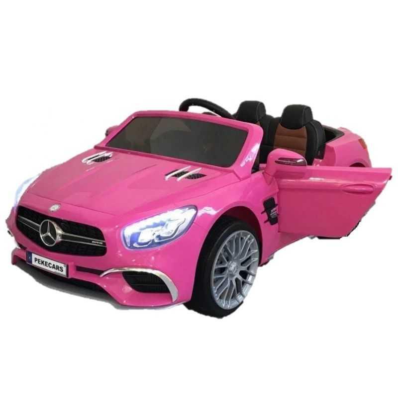 Comprar Coche Eléctrico Infantil Mercedes SL65 12v con mp4 Rosa
