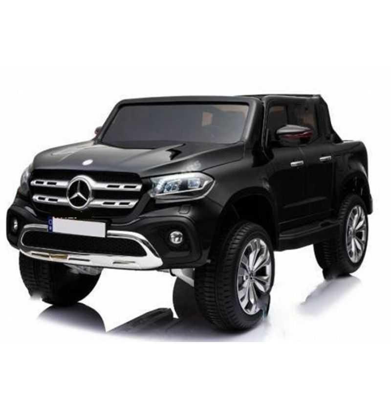 Comprar Coche Eléctrico Infantil Mercedes Pickup X Class 2 plazas 12v mp4 negro