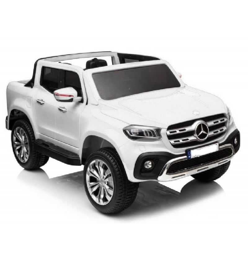 Comprar Coche Eléctrico Infantil Mercedes Pickup X Glass 2 plazas 12v mp4 Blanco
