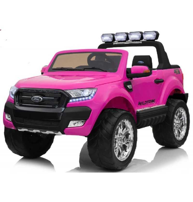 Comprar Coche Eléctrico Infantil Ford Ranger con mp4 12v Rosa