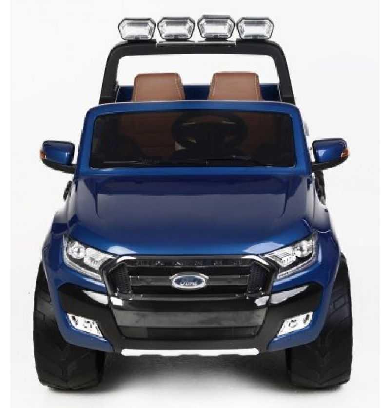 Comprar Coche Eléctrico Infantil Ford Ranger mp4 asiento negro, azul metalizado