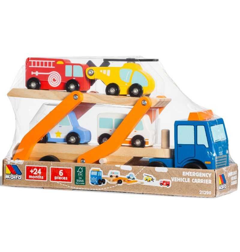 Comprar Camión de Emergencias Infantil con Vehículos Madera