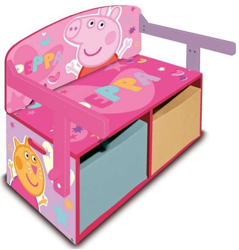 Comprar Pupitre - Banco de Madera Infantil Peppa Pig