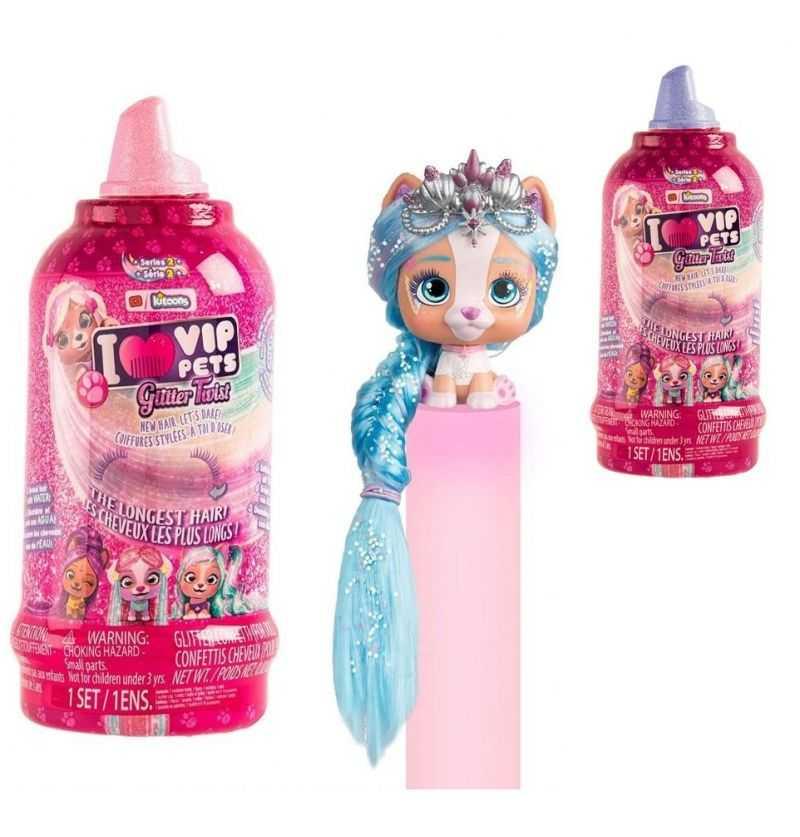 Comprar Muñecas Perritas Vip Pets Glitter Twist