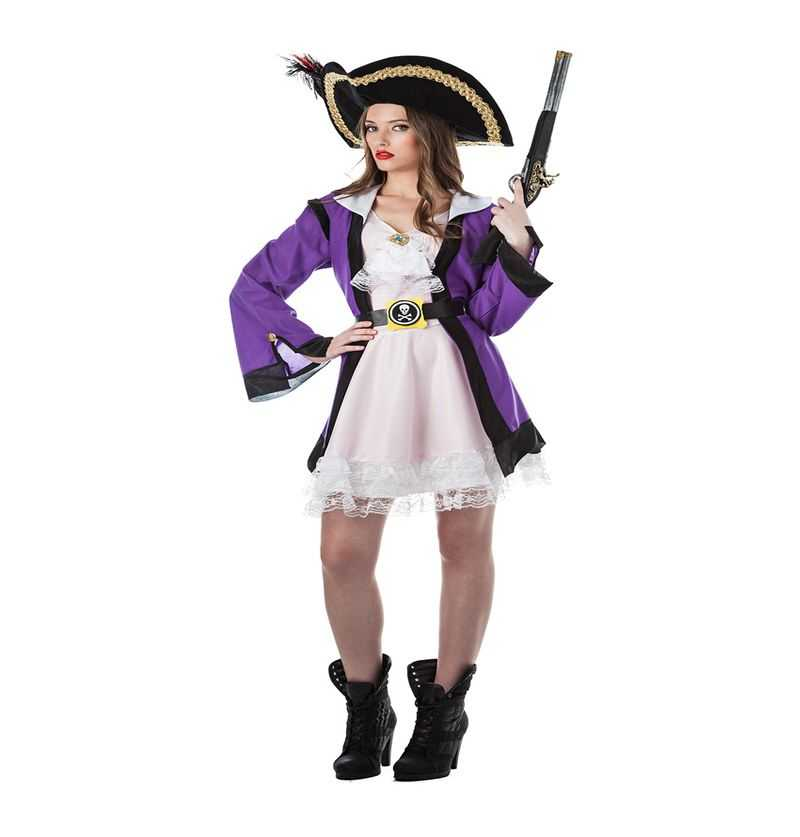 Comprar Disfraz Corsaria Adulto Lila Elegante