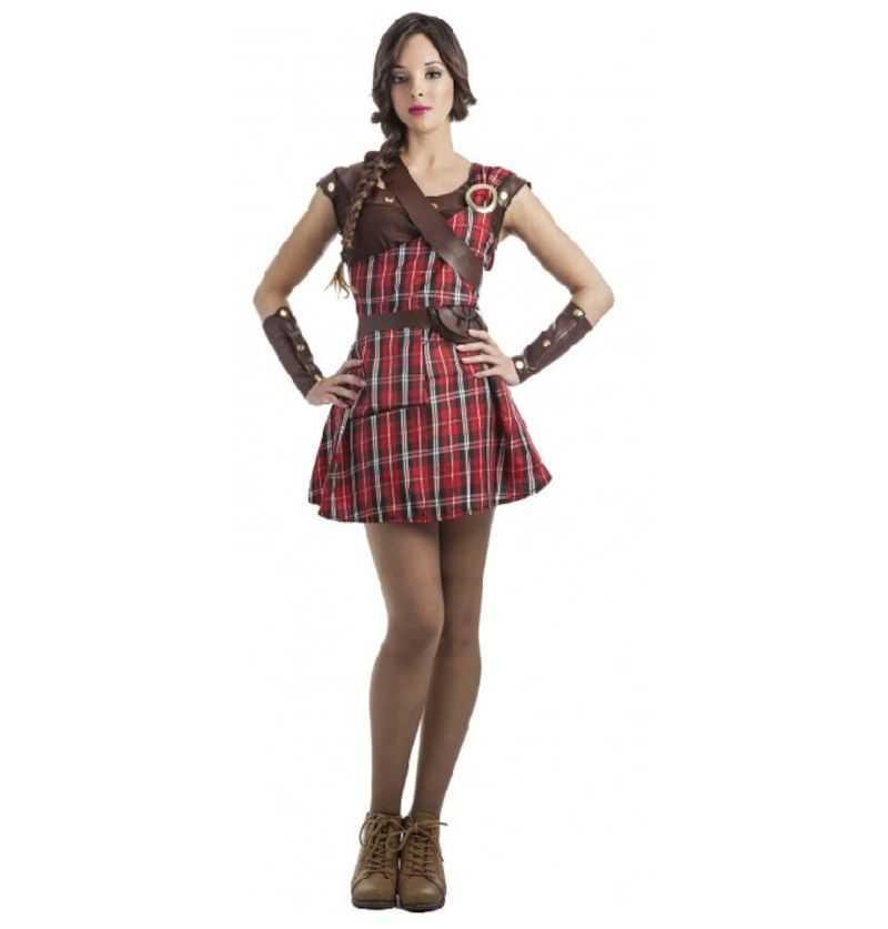 Comprar Disfraz Guerrera Escocesa Adulto