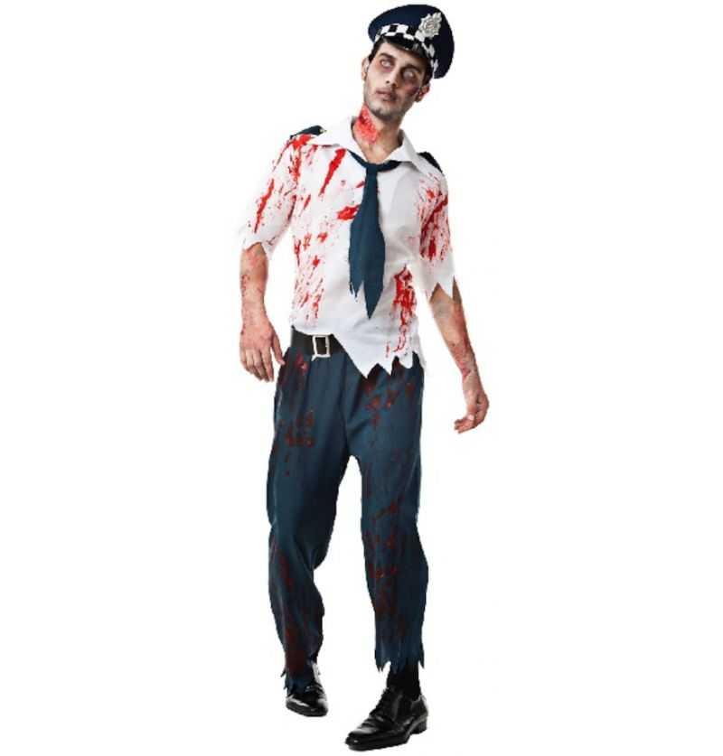 Comprar Disfraz Hombre Policía Zombie Halloween Adulto