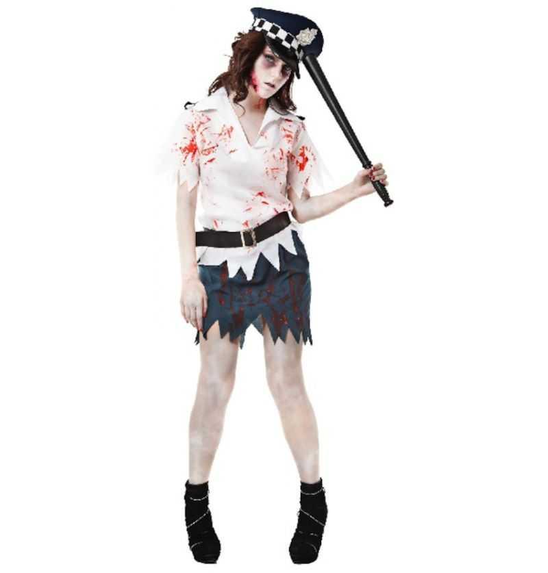 Comprar Disfraz Mujer Policía Zombie Halloween adulta
