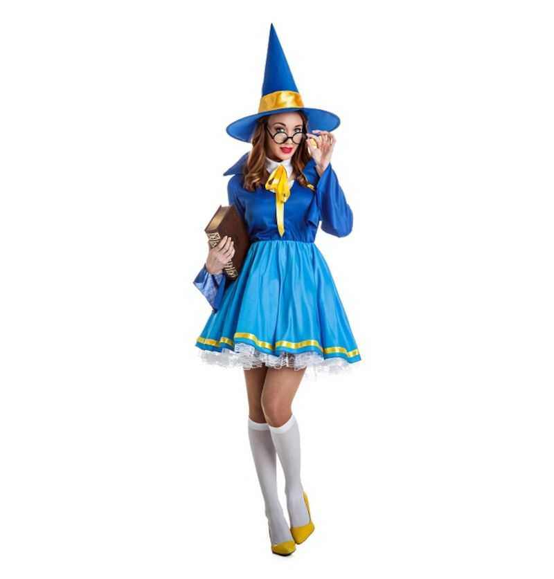 Comprar Disfraz Aprendiz Maga Azul Halloween Adulto