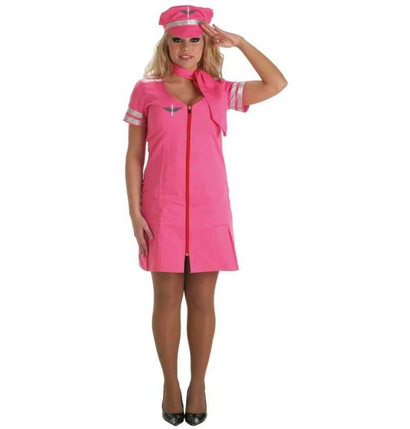 Comprar Disfraz Azafata Rosa