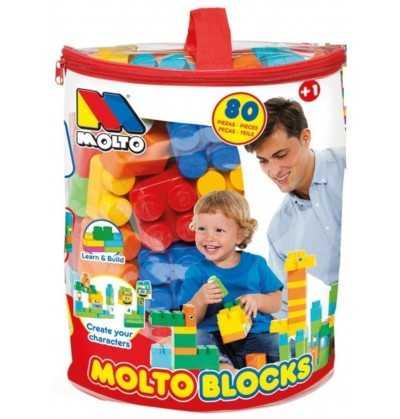 Comprar Bolsa Bloques 80 piezas Molto