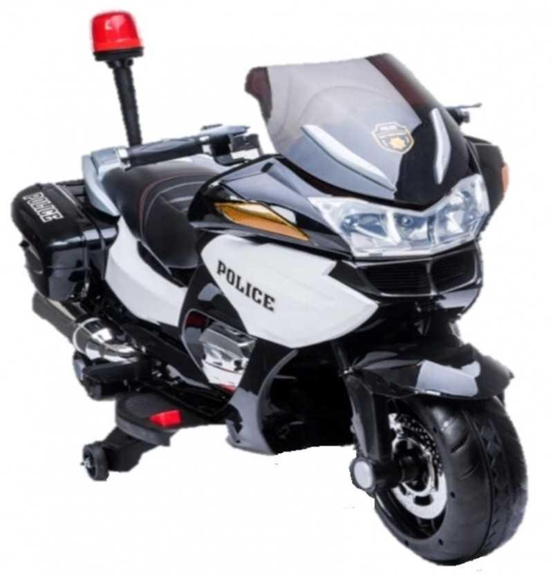 Comprar Moto Policía eléctrica Infantil Blanca y negra 2 plazas