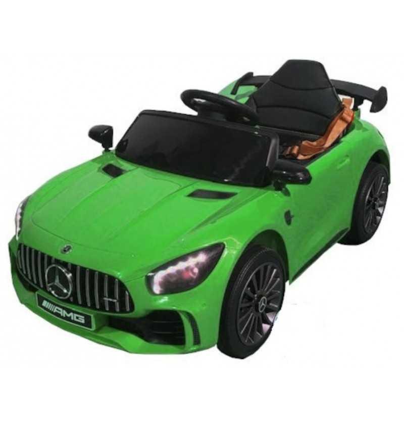 Comprar Coche Eléctrico Infantil a Batería Mercedes Gtr 12v 1 plaza Verde
