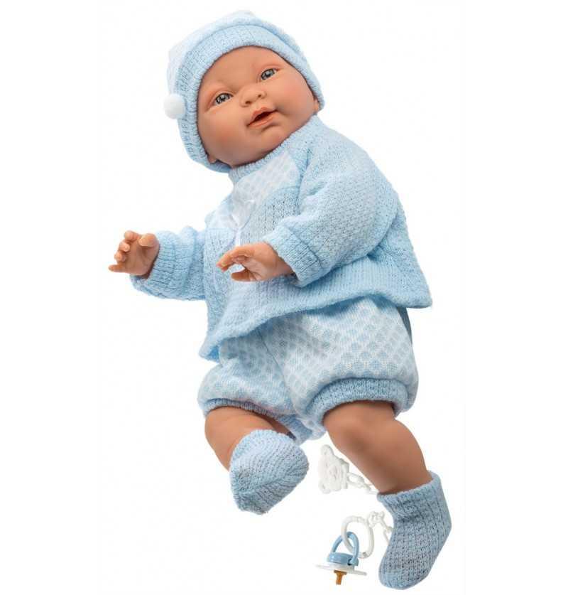 Comprar Muñeco Recién Nacido Hugo Vestido Azul - Muñecas Llorens