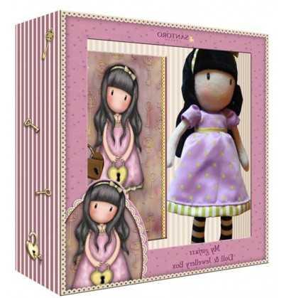 Comprar Set de Regalo Muñeca Gorjuss con Joyero Time The Secret Rosa