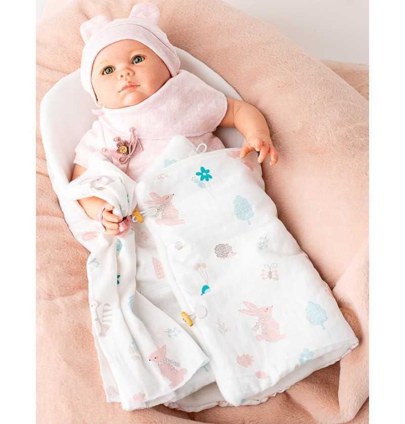 Comprar Muñeca Bebe Reborn Mia con Bodi Rosa