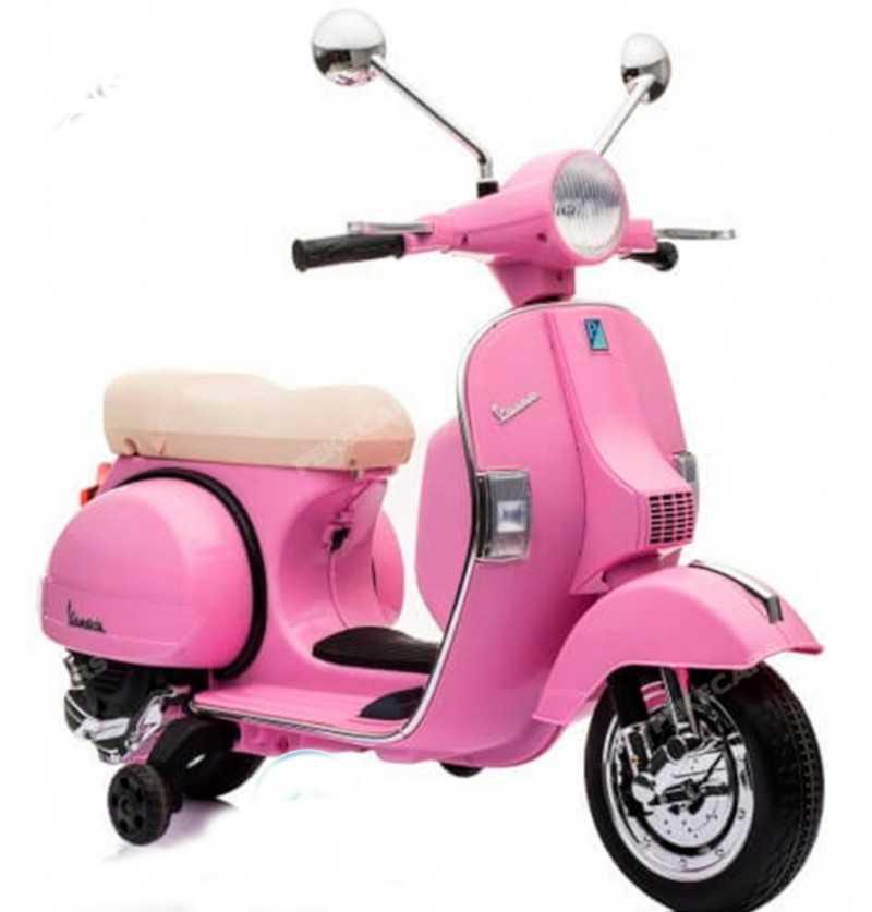 Comprar Moto eléctrica Infantil a batería Vespa Clásica Piaggio PX-150 12V Rosa