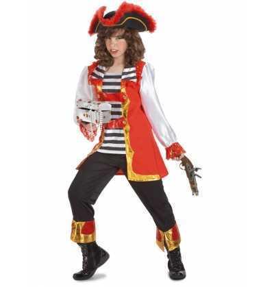 disfra Pirata lujo niña