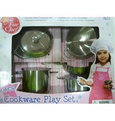 Set Cocina Acero  imitación