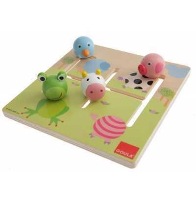 Puzzle Laberinto Animales    Madera   Goula